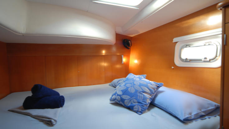 Double cabin on sailing boat in the Whitsundays - Great Barrier Reef - Australia