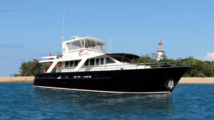 Luxury Private Yacht moored at Low Isles | Great Barrier Reef | Australia