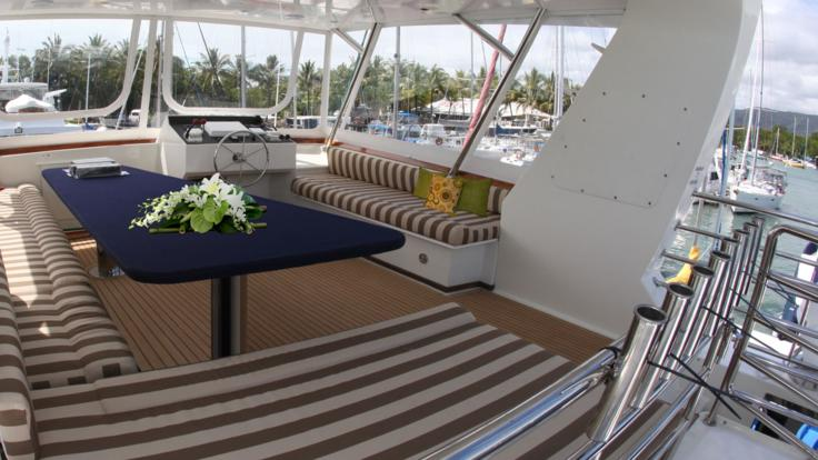 Sit back and relax on the Great Barrier Reef in your Luxury Motor Yacht in Port Douglas