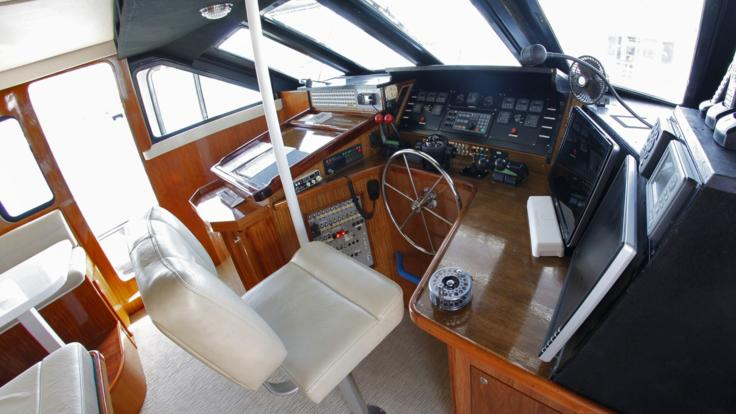 The Helm of your private charter yacht | Great Barrier Reef | Australia
