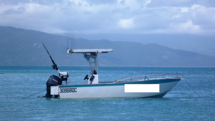 Fishing boat on the Great Barrier Reef