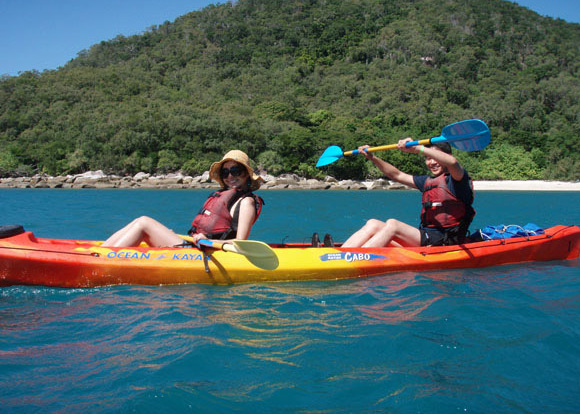 Enjoy the coastal views while sea kayaking