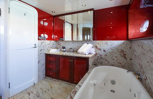 Ensuite on our Luxury Super Yacht Charter boat - Port Douglas - Great Barrier Reef Australia
