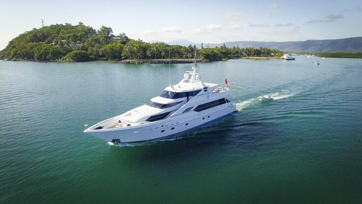 Superyacht Charters Great Barrier Reef - Leaving Port Douglas