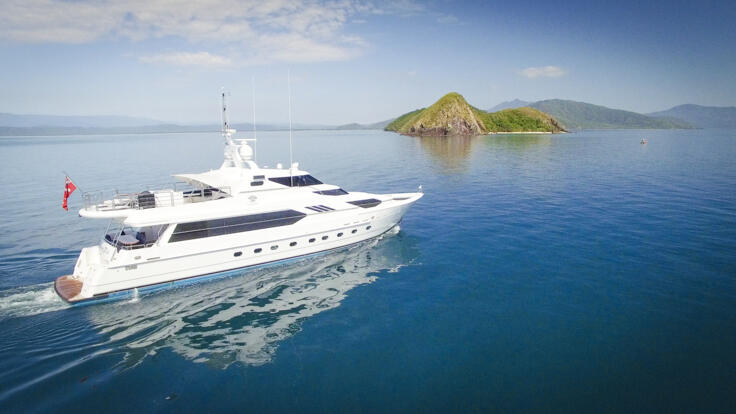 Superyacht Charters Great Barrier Reef - Snapper Island North of Port Douglas