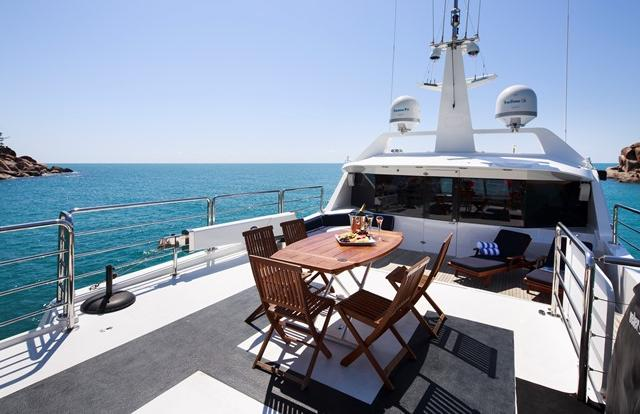 Luxury Superyacht private charter Whitsundays - Great Barrier Reef - Australia