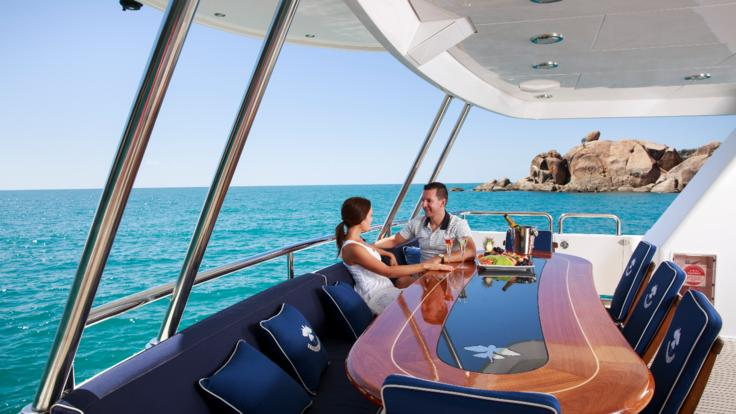 Superyachts Great Barrier Reef - Dining out on your luxury superyacht charter from Port Douglas