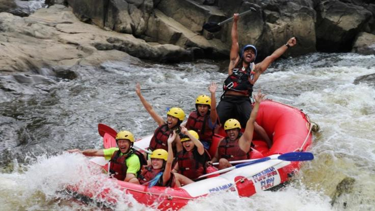 Rafting is great bonding activity for friends and family