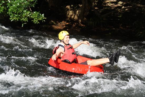 Enjoy cooling off in the tropics white water rafting rapids in Cairns