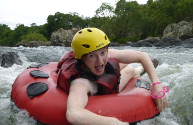 Get a break from hot Cairns sun and dip into Mulgrave River White Water Rapids