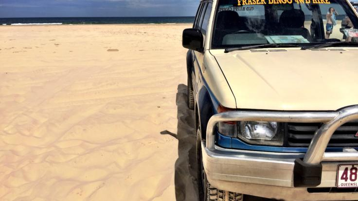 4WD hire for self-drive group getaway on Fraser Island