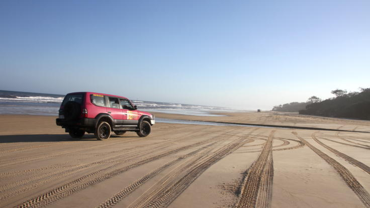 Drive your own 4WD on Fraser Island - no experience neccessary.