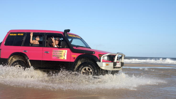 Adventure 4WD and beach driving on Fraser Island