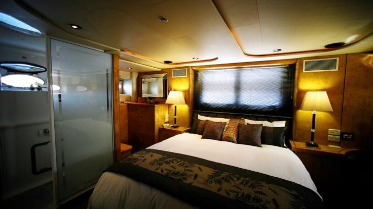 Master Stateroom with King Size Bed, extended Great Barrier Reef Private Charter Boat