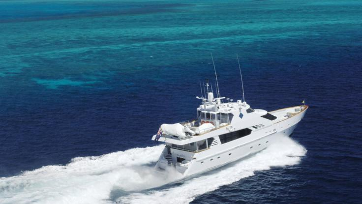Great Barrier Reef Private Charter Super Yacht Aerial photo