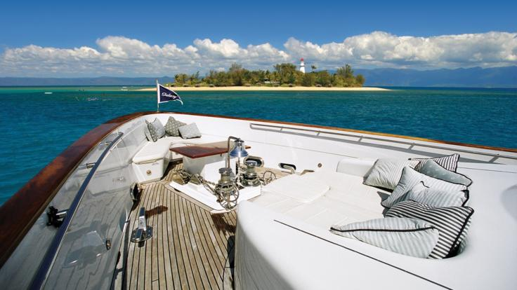 Cruising to Low Isles onboard Great Barrier Reef luxury charter boat