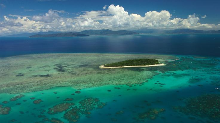 Aerial view of Green Island