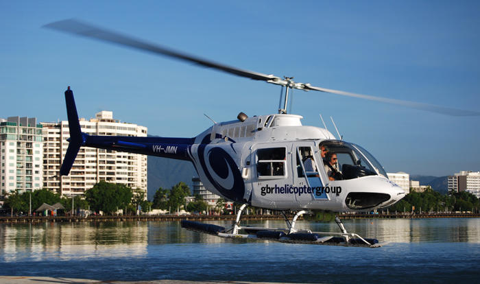 Depart from Cairns city Heli Port to see the Great Barrier Reef