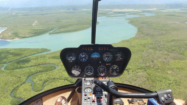 Spectacular views from helicopter scenic flight in Port Douglas