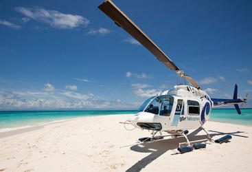 Helicopter Flights Cairns: Private Sand Cay Landing