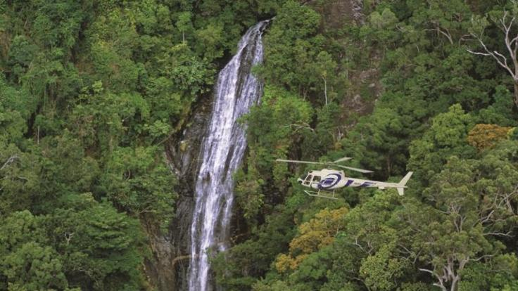 Helicopter Flights Cairns :Private waterfall tour in Daintree Rainforest