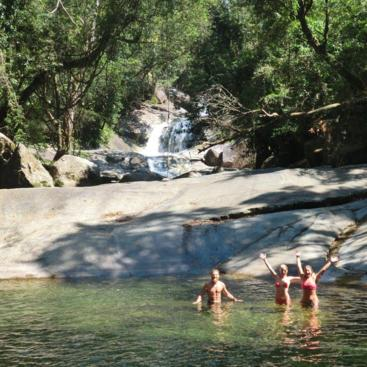 Refreshing swim at famous Josephine Falls