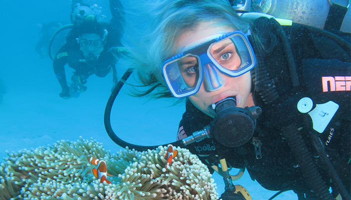 Scuba diving on the Great Barrier Reef from Cairns