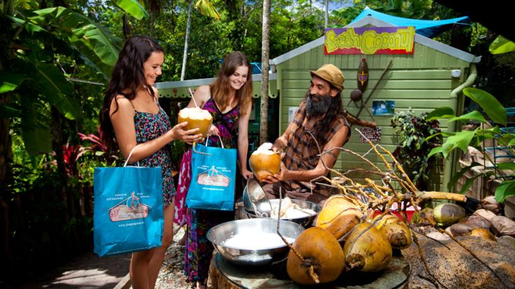 Meet the locals in the markets and village of Kuranda