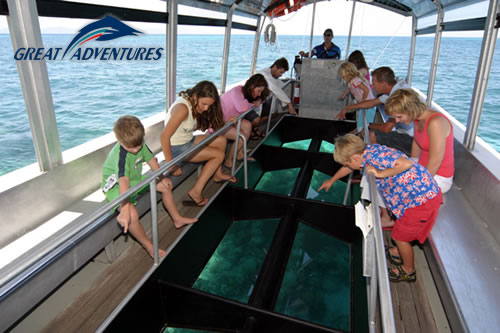 Glass bottom boat tour, Green Island, Great Barrier Reef