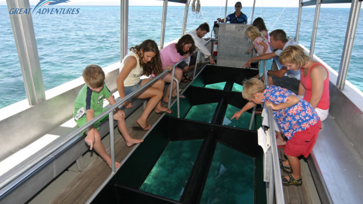 Ride the glass bottom boat at Green Island