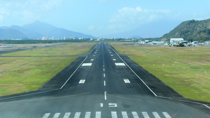 Cairns Airport runway take on a Cairns Scenic Flight - Great Barrier Reef - Australia