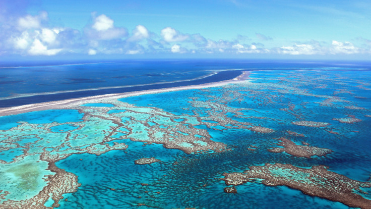 Scenic flight from Cairns over the Great Barrier Reef in Australia