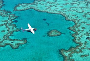 Airlie Beach scenic flight Heart Reef - Whitsunday Islands