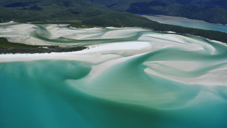 Aerial View Hill Inlet Lookout - Whitsundays Great Barrier Reef Australia