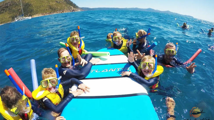 Enjoy snorkeling on our Premium Great Barrier Reef tour in the Whitsundays