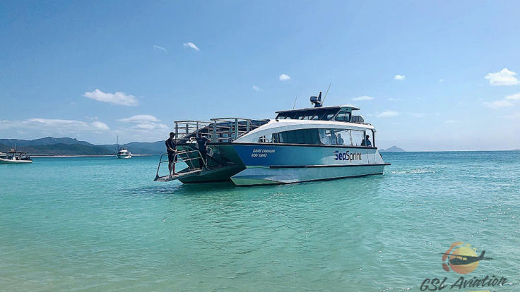 Fast and Comfortable boat on your Whitsundays Great Barrier Reef tour