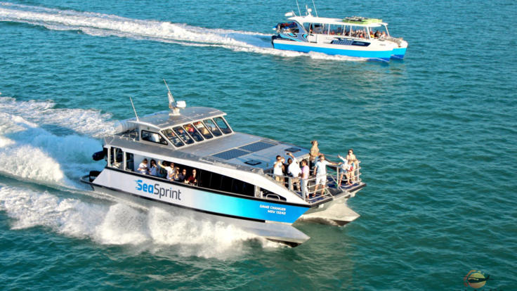 Fast boat transfer, more time to enjoy Whitehaven Beach and water activities