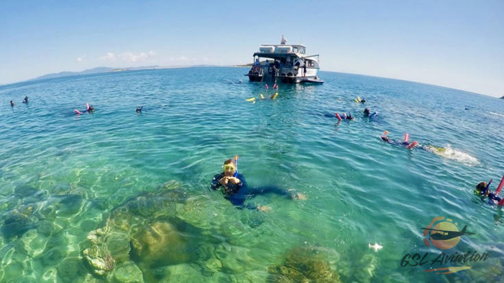 Snorkel equipment & wetsuit included in Great Barrier Reef tour