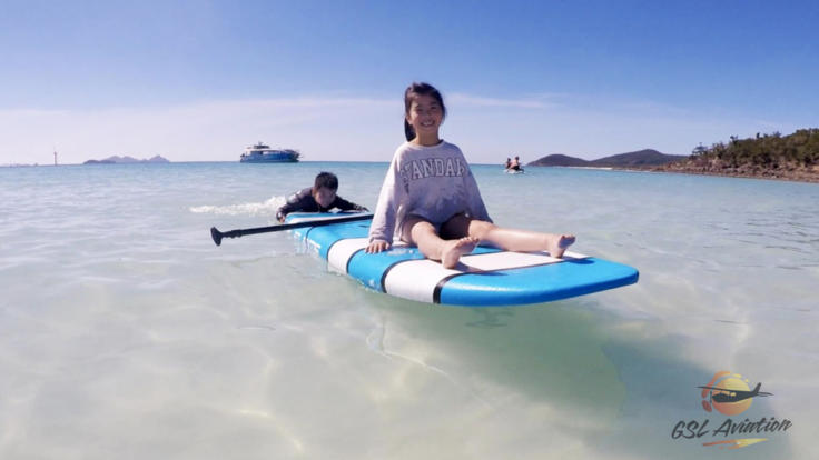 Your Whitsundays Fly/Cruise day trip includes the use of stand up paddle boards