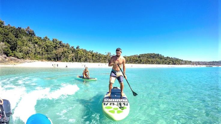 All guests can use our SUP boards on our Fly/cruise Great Barrier Reef tours