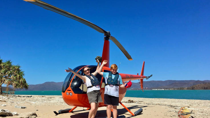 Airle Beach Helicopter Flight and Beach Landing Great Barrier Reef - Australia