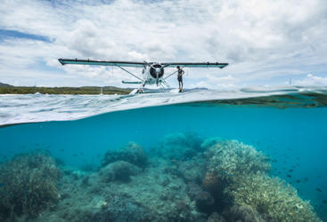 Seaplane Scenic Flight Whitsunday Islands Great Barrier Reef Australia