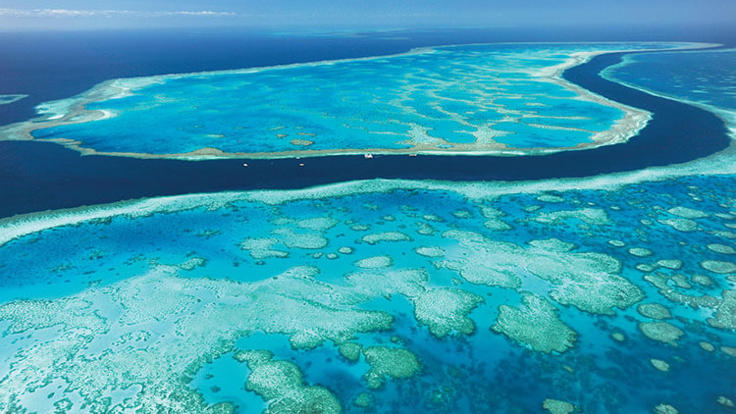 The Great Barrier Reef Whitsunday Islands in Australia