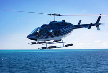 Charter a Bell 206 Longranger for your Great Barrier Reef Scenic Flight over the Whitsundays & Great Barrier Reef
