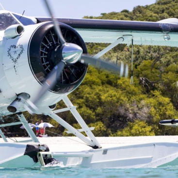 Seaplane at Whitehaven Beach Whitsundays - Great Barrier Reef - Australia