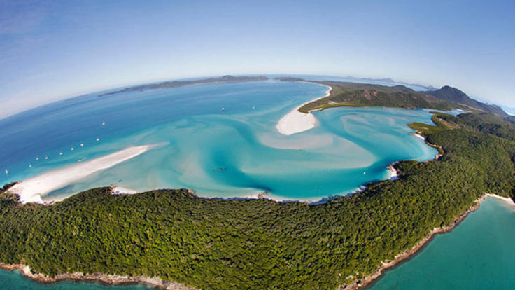 Whitsunday Scenic Helicopter Flight on the way to Reef World Great Barrier Reef