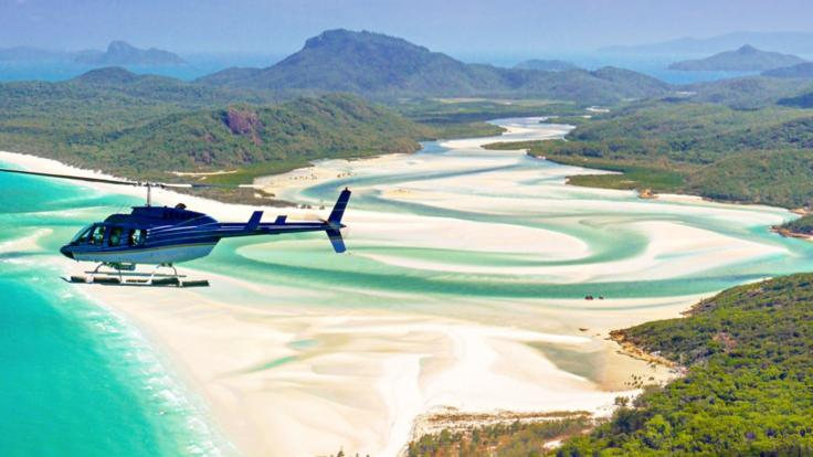 Whitsunday Helicopter Scenic Flight on the way to Reef World - Great Barrier Reef Australia
