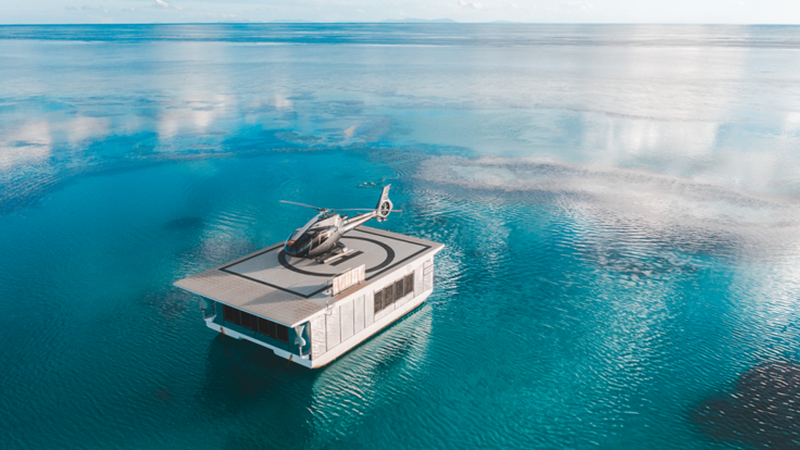 Heart Reef Whitsundays - New Helicopter pontoon at Heart Reef