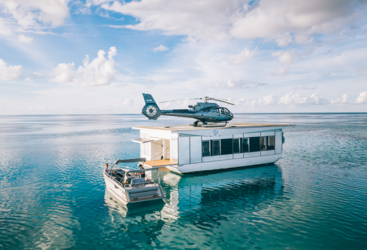 Helicopter pontoon at Heart Reef
