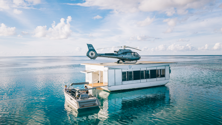 Heart Reef Whitsundays - New Exclusive Helicopter pontoon at Heart Reef